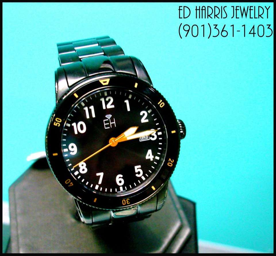 Water Resistant 330 Feet, Black IP Plating, Sapphire Crystal, Luminous, Rotating Diver Bezel, Screw Down Crown, 10 Year Lithium Battery, Stainless Steel. Sale Price: $325.00 (Black Leather Watch Case and 3 Year Warranty Included). — at Ed Harris Jewelry.