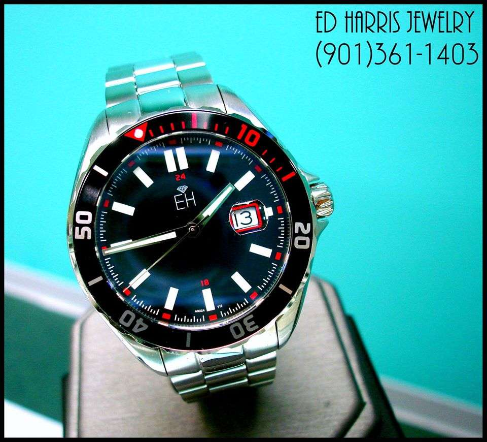 Water Resistant (330 Feet), Sapphire Crystal, Luminous, Rotating Diver Bezel, Screw Down Crown, Stainless Steel, Swiss Quartz Accuracy. Sale Price: $295.00 (Black Leather Watch Case and 3 Year Warranty Included). — at Ed Harris Jewelry.
